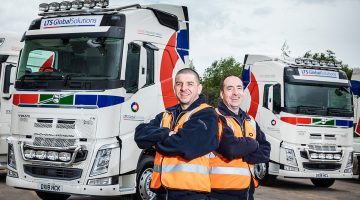 2 LTS Drivers in front of new truck livery