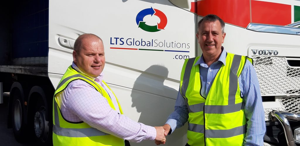 Dave Hands and Jeff in front of LTS truck