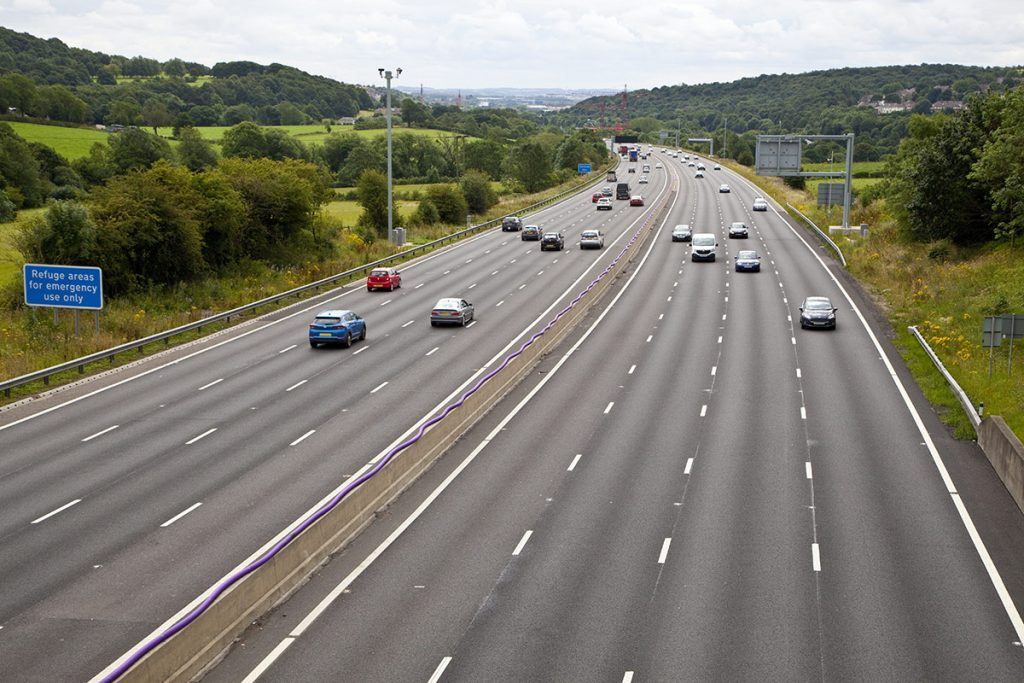 Smart motorway on the M62 West Yorkshire
